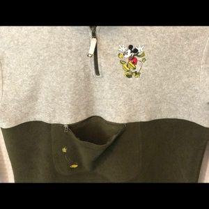 Disney Mickey Mouse 1/4 Zip Fleece w/ Pouch
